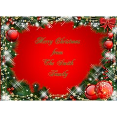Merry Christmas 3d Heart Card By Deborah   Heart Bottom 3d Greeting Card (7x5)   Ejrrd3s88g77   Www Artscow Com Front