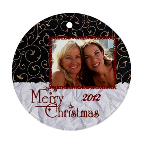 Amy  By Hoyhoy14 Msn Com   Ornament (round)   Rwg9ip31ey27   Www Artscow Com Front