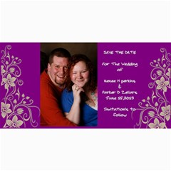 Save The Date By Renee   4  X 8  Photo Cards   B7f9oykdyycb   Www Artscow Com 8 x4 Photo Card - 2