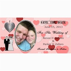 Save The Date  By Renee   4  X 8  Photo Cards   D6uo9rg5fnhr   Www Artscow Com 8 x4 Photo Card - 50