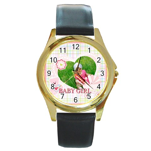 Baby By Jacob   Round Gold Metal Watch   1t9s0xvtx75i   Www Artscow Com Front
