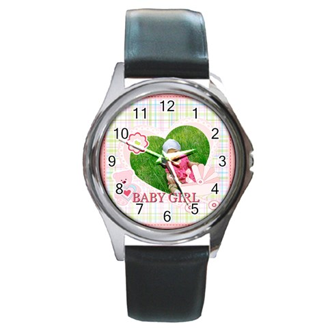 Baby By Jacob   Round Metal Watch   Wy8z1kduqjd2   Www Artscow Com Front
