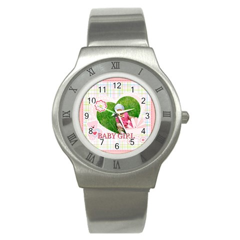 Bab Y By Jacob   Stainless Steel Watch   3oyvab3zl2nl   Www Artscow Com Front
