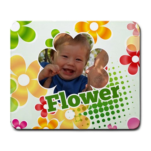 Flower By Divad Brown   Large Mousepad   6xebt6cxd034   Www Artscow Com Front