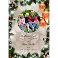 Seasons Christmas Greeting 3d Circle Card By Deborah   Circle 3d Greeting Card (7x5)   Mhq1n9vty8jy   Www Artscow Com Inside
