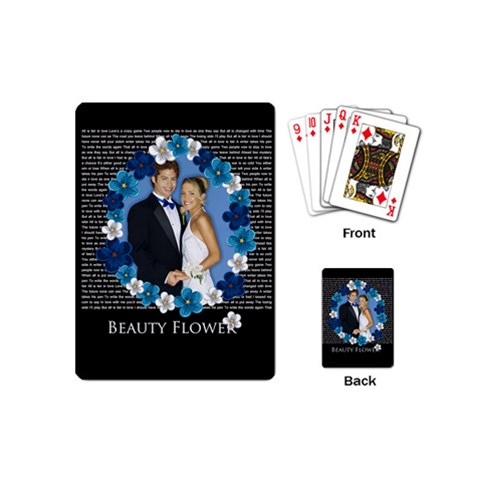 Wedding By Joely   Playing Cards (mini)   Ectvl7oszw3j   Www Artscow Com Back