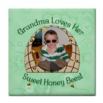 Grandma Loves Her Honey Bees Tile Coaster