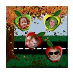 Fall Apples Tile Coaster