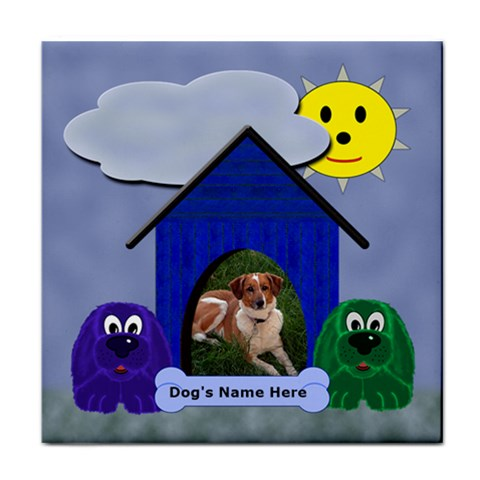 Dog House Tile Coaster By Chere s Creations   Tile Coaster   2lefjrcpkfrm   Www Artscow Com Front