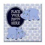 Blue Hippo Tile Coaster