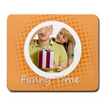 funny time - Large Mousepad