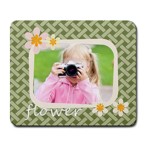 Flower Kids By Joely   Large Mousepad   9g27q5sis4m6   Www Artscow Com Front