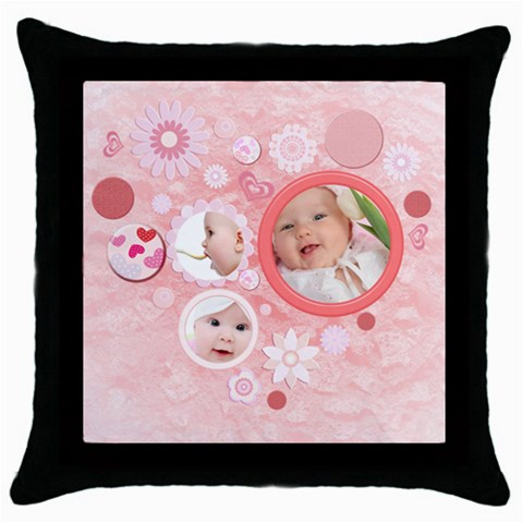 Love By Doggie   Throw Pillow Case (black)   J1lneum40gg1   Www Artscow Com Front