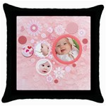 love - Throw Pillow Case (Black)