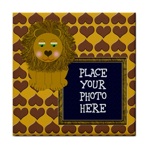 Lion Tile Coaster by Chere s Creations Front