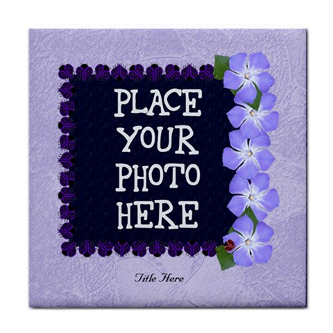 Purple Ladybugs Tile Coaster By Chere s Creations   Tile Coaster   Zbxi2emzw9gt   Www Artscow Com Front