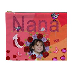 Nana Cosmetic Bag Xl By Kim Blair   Cosmetic Bag (xl)   P9vpw3xhioxe   Www Artscow Com Front