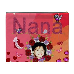 Nana Cosmetic Bag Xl By Kim Blair   Cosmetic Bag (xl)   P9vpw3xhioxe   Www Artscow Com Back