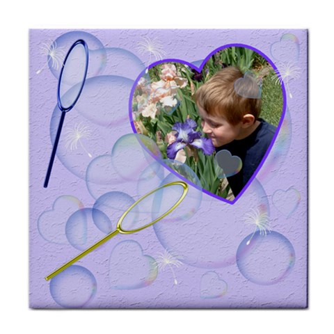 Bubbles Tile Coaster By Chere s Creations   Tile Coaster   N59cxtit4ma3   Www Artscow Com Front