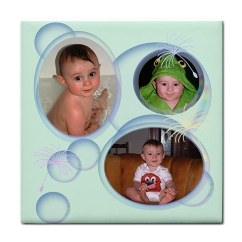 Bubbles Tile Coaster 3 By Chere s Creations   Tile Coaster   4n5n092yx46l   Www Artscow Com Front