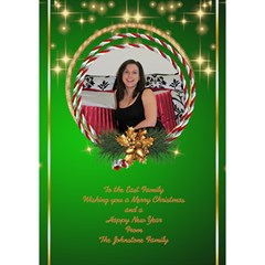 Merry Christmas 3d Circle Christmas Card By Deborah   Circle 3d Greeting Card (7x5)   Wxdrlixt70m4   Www Artscow Com Inside