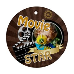 Movie By M Jan   Round Ornament (two Sides)   Tzmpiqkebym9   Www Artscow Com Front