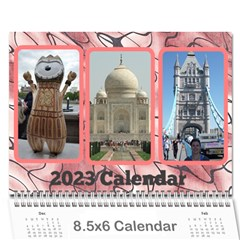 Shades Of Red (8,5x6) Any Year Wall Calendar By Deborah   Wall Calendar 8 5  X 6    1pua4sk4h7y6   Www Artscow Com Cover