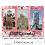 Shades of Red (8,5x6) Any Year Wall Calendar - Wall Calendar 8.5  x 6