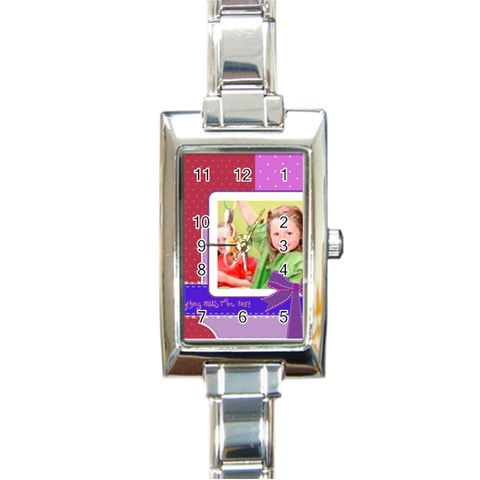 Kids By Mac Book   Rectangle Italian Charm Watch   Kd6di71tlwuf   Www Artscow Com Front