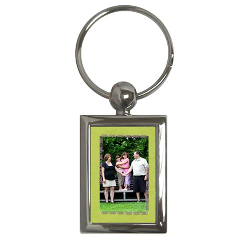 Green Infinity Keychain By Patricia W   Key Chain (rectangle)   2s4lkb7be8tp   Www Artscow Com Front