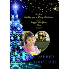 My Merry Christmas 3d Card By Deborah   Heart Bottom 3d Greeting Card (7x5)   0pluzege24mx   Www Artscow Com Inside