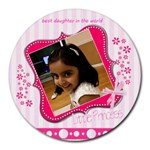 daughter - Collage Round Mousepad