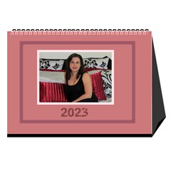 Shades of Red Desktop Calendar (8.5x6) by Deborah Cover