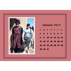 Shades of Red Desktop Calendar (8.5x6) by Deborah Jan 2013