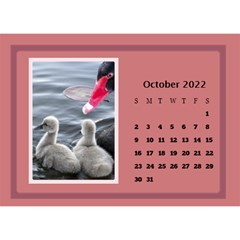 Shades of Red Desktop Calendar (8.5x6) by Deborah Oct 2013