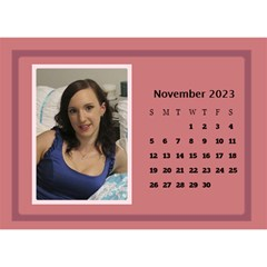 Shades of Red Desktop Calendar (8.5x6) by Deborah Nov 2013