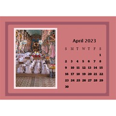 Shades of Red Desktop Calendar (8.5x6) by Deborah Apr 2013