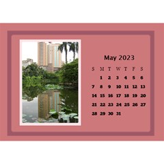 Shades of Red Desktop Calendar (8.5x6) by Deborah May 2013