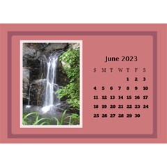 Shades of Red Desktop Calendar (8.5x6) by Deborah Jun 2013