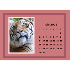 Shades of Red Desktop Calendar (8.5x6) by Deborah Jul 2013