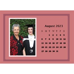 Shades of Red Desktop Calendar (8.5x6) by Deborah Aug 2013