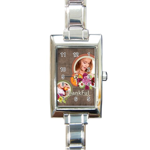 Thank Ful By Joely   Rectangle Italian Charm Watch   3s47u2ra32be   Www Artscow Com Front