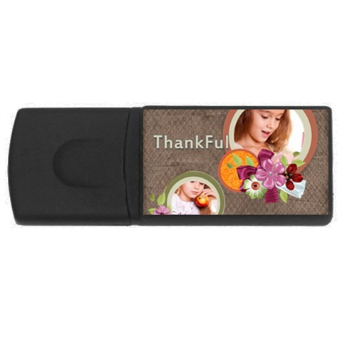 Thankful By Joely   Usb Flash Drive Rectangular (1 Gb)   2ohbktawdp0x   Www Artscow Com Front