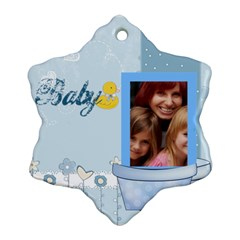 Baby By Jacob   Snowflake Ornament (two Sides)   Zxfu0pfbb79j   Www Artscow Com Front