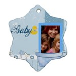 baby - Snowflake Ornament (Two Sides)