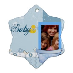 Baby By Jacob   Snowflake Ornament (two Sides)   Zxfu0pfbb79j   Www Artscow Com Back