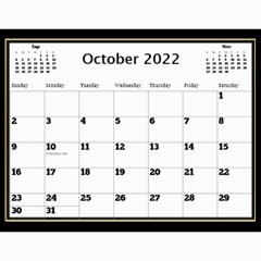 My Black And Gold  Wall Calendar 11x8 5 By Deborah   Wall Calendar 11  X 8 5  (12 Months)   2z4kb1bscg6y   Www Artscow Com Oct 2017