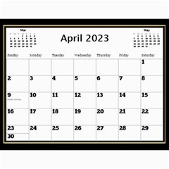 My Black And Gold  Wall Calendar 11x8 5 By Deborah   Wall Calendar 11  X 8 5  (12 Months)   2z4kb1bscg6y   Www Artscow Com Apr 2017