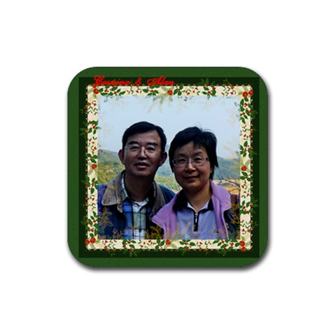 Big Brother Coaster By Lee Suk Ling   Rubber Coaster (square)   Fqgaleacrbak   Www Artscow Com Front