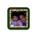 judy3 coaster - Rubber Coaster (Square)